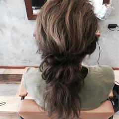 ルーズ ショート ヘアアレンジ ハーフアップ ヘアスタイルや髪型の写真・画像