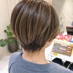 エレガント ショート バレイヤージュ ベリーショート ヘアスタイルや髪型の写真・画像