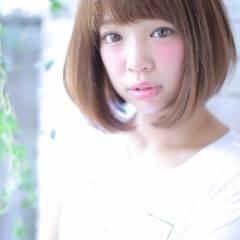 モテ髪 フェミニン 卵型 ボブ ヘアスタイルや髪型の写真・画像