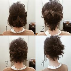 アンニュイ ナチュラル ボブ 結婚式 ヘアスタイルや髪型の写真・画像