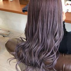 透明感カラー ピンクアッシュ ロング ギャル ヘアスタイルや髪型の写真・画像