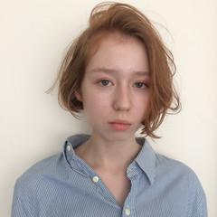 アンニュイほつれヘア パーマ 簡単ヘアアレンジ ボブ ヘアスタイルや髪型の写真・画像
