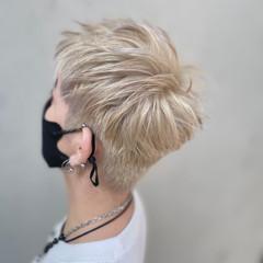 デザインカラー グラデーションカラー ベージュ ブリーチカラー ヘアスタイルや髪型の写真・画像