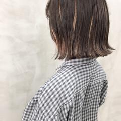 モテ髮シルエット イメチェン ナチュラル 切りっぱなしボブ ヘアスタイルや髪型の写真・画像