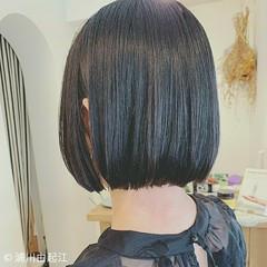 グラデーションカラー 縮毛矯正 秋 ストレート ヘアスタイルや髪型の写真・画像