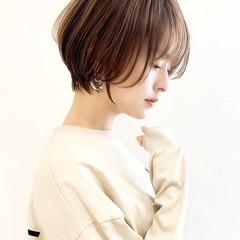 ミニボブ ショートヘア マッシュショート ショート ヘアスタイルや髪型の写真・画像