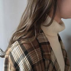 透明感カラー ナチュラル 透明感 ロング ヘアスタイルや髪型の写真・画像