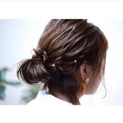 アンニュイ ナチュラル ヘアアレンジ デート ヘアスタイルや髪型の写真・画像