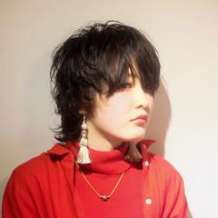 ナチュラルウルフ ウルフパーマ モード ウルフカット ヘアスタイルや髪型の写真・画像