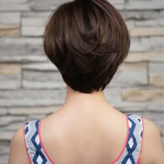 小顔 ナチュラル マッシュ 似合わせ ヘアスタイルや髪型の写真・画像
