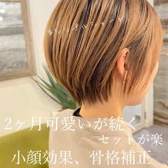 ショートヘア ミニボブ ショート 切りっぱなしボブ ヘアスタイルや髪型の写真・画像