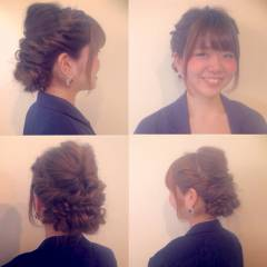 ねじり コンサバ 結婚式 ヘアアレンジ ヘアスタイルや髪型の写真・画像