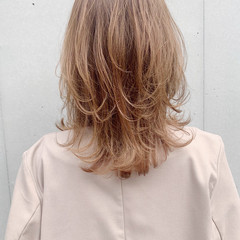 モテ髪 ひし形シルエット ゆるふわ ミディアム ヘアスタイルや髪型の写真・画像