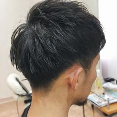 刈り上げ ツーブロック ストリート 黒髪ショート ヘアスタイルや髪型の写真・画像