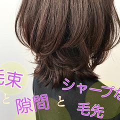 レイヤースタイル 大人かわいい ミディアム コスメ・メイク ヘアスタイルや髪型の写真・画像