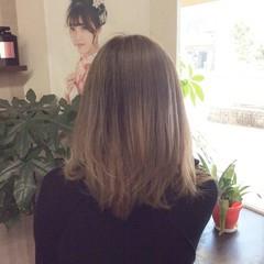 グラデーション グラデーションカラー ミディアム ガーリー ヘアスタイルや髪型の写真・画像
