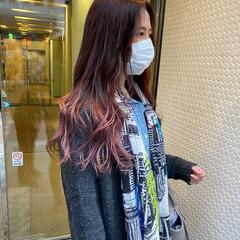 グラデーション ストリート グラデーションカラー ピンク ヘアスタイルや髪型の写真・画像