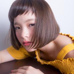 色気 前髪あり 大人かわいい 斜め前髪 ヘアスタイルや髪型の写真・画像