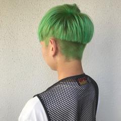 ダブルカラー ハイトーン 外国人風カラー ショート ヘアスタイルや髪型の写真・画像