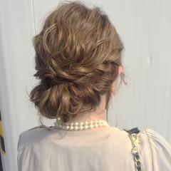 大人女子 ナチュラル ミディアム ヘアアレンジ ヘアスタイルや髪型の写真・画像