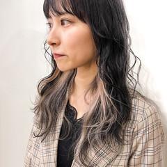 ハイトーンカラー ナチュラル インナーカラー 地毛風カラー ヘアスタイルや髪型の写真・画像