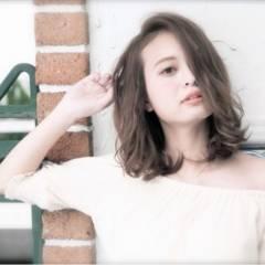 ミディアム ストリート ボーイッシュ ヘアスタイルや髪型の写真・画像