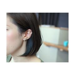 ダブルカラー ストリート インナーカラー メッシュ ヘアスタイルや髪型の写真・画像