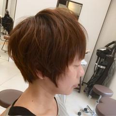 ナチュラル ショート 簡単 ショートボブ ヘアスタイルや髪型の写真・画像