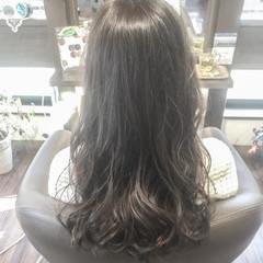 外国人風カラー ニュアンス ハイトーン ロング ヘアスタイルや髪型の写真・画像