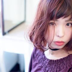 ピンク ピュア ガーリー 色気 ヘアスタイルや髪型の写真・画像