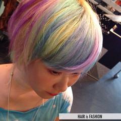 カラフルカラー プリンセス カラートリートメント ガーリー ヘアスタイルや髪型の写真・画像