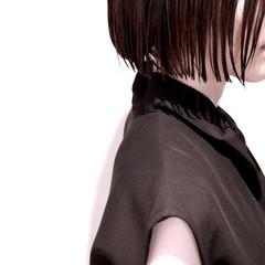 モード かっこいい ボブ ウェットヘア ヘアスタイルや髪型の写真・画像