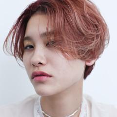 ダブルカラー ハイライト 外国人風 モード ヘアスタイルや髪型の写真・画像