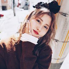 ヘアアレンジ 簡単ヘアアレンジ ナチュラル可愛い 韓国ヘア ヘアスタイルや髪型の写真・画像