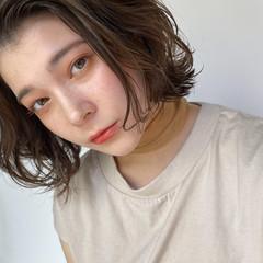 ミニボブ コテ巻き風パーマ ボブ デジタルパーマ ヘアスタイルや髪型の写真・画像