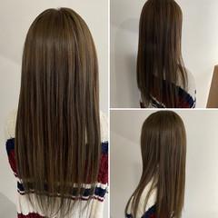 エレガント オリーブグレージュ オリーブカラー ミディアム ヘアスタイルや髪型の写真・画像