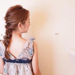 セミロング ナチュラル 涼しげ 簡単ヘアアレンジ ヘアスタイルや髪型の写真・画像