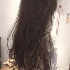 黒髪 アッシュ ナチュラル ハイライト ヘアスタイルや髪型の写真・画像