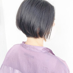 切りっぱなしボブ 簡単スタイリング ボブ 髪質改善 ヘアスタイルや髪型の写真・画像