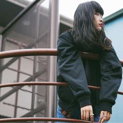 暗髪 ストリート 秋 アッシュ ヘアスタイルや髪型の写真・画像