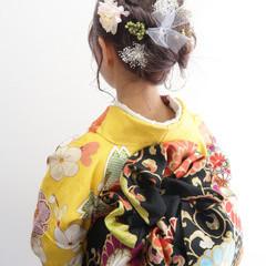 ナチュラル 成人式ヘア 結婚式ヘアアレンジ 成人式カラー ヘアスタイルや髪型の写真・画像