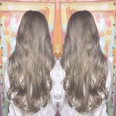 透明感 ハイライト モード ロング ヘアスタイルや髪型の写真・画像