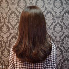 デジタルパーマ エレガント ロング 上品 ヘアスタイルや髪型の写真・画像