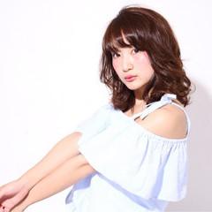 ミディアム アッシュ おフェロ 艶髪 ヘアスタイルや髪型の写真・画像