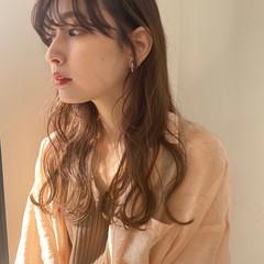 無造作ヘア イルミナカラー オリーブベージュ セミロング ヘアスタイルや髪型の写真・画像