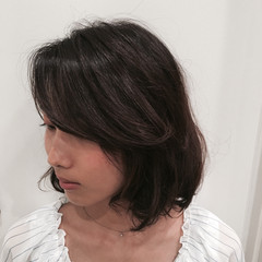 ゆるふわ ボブ コンサバ フェミニン ヘアスタイルや髪型の写真・画像