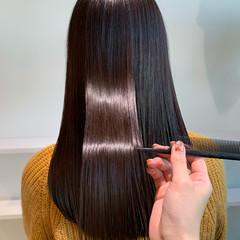 髪質改善トリートメント イルミナカラー 髪質改善 ロング ヘアスタイルや髪型の写真・画像