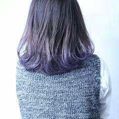ハイライト ミディアム グラデーションカラー ストリート ヘアスタイルや髪型の写真・画像