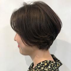 ナチュラル ショート ショートヘア ハンサムショート ヘアスタイルや髪型の写真・画像