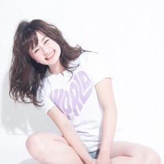 おフェロ ガーリー 春 ミディアム ヘアスタイルや髪型の写真・画像
